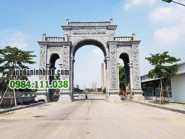 Cổng làng nghề đá mỹ nghệ Ninh Vân - Ninh Bình