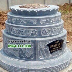 Mộ đá xanh nguyên khối