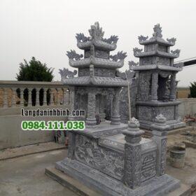 Mẫu mộ đẹp 3 mái