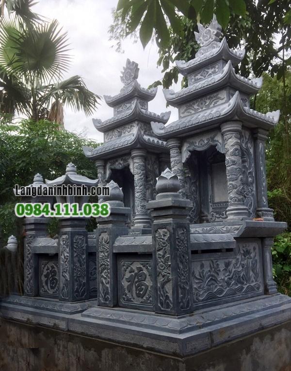 Lăng mộ đá 3 mái đẹp
