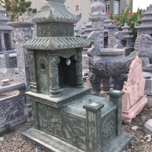 mẫu mộ đá xanh rêu giá rẻ